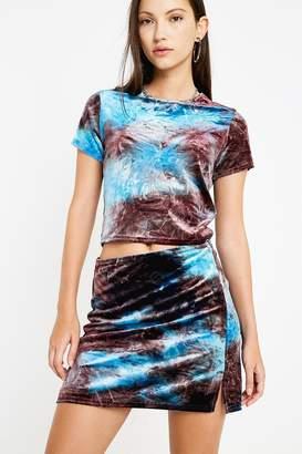 Urban Outfitters Tie-Dye Velvet Mini Skirt