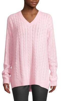 Saks Fifth Avenue COLLECTION Cashmere Cable Knit V-Neck Sweater
