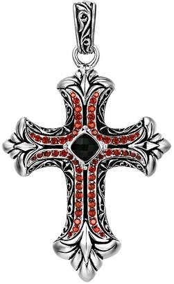 Scott Kay Sterling Onyx and Garnet Cross Enhancer