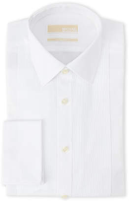 MICHAEL Michael Kors White Regular Fit French Cuff Tuxedo Shirt
