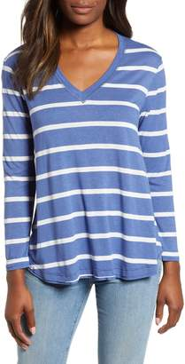 Everleigh V-Neck Striped Tunic Tee