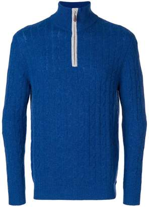 N.Peal cable knit half zip sweater