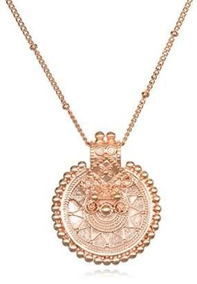 Satya Jewelry Womens Mandala Pendant Necklace 36-Inch