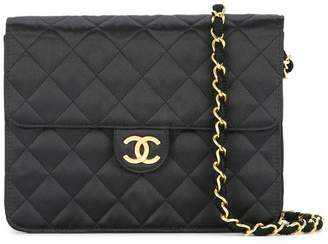 Chanel Pre-Owned Quilted CC logo single chain shoulder bag
