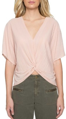 Women's Willow & Clay Twist Front Plisse Top $79 thestylecure.com