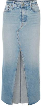 GRLFRND Isla Denim Skirt - Mid denim