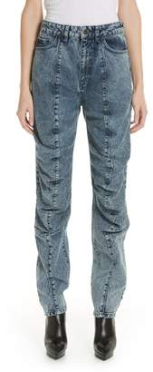 Y/Project Stonewash Ruffle Jeans