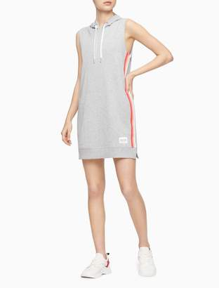 Calvin Klein Ombre Stripe Tape Sleeveless Hoodie Dress