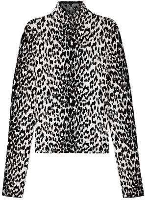 Givenchy Leopard-jacquard Wool-blend Jumper