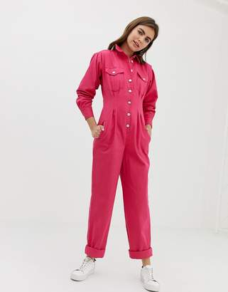 Asos Design DESIGN boilersuit with waisted detail