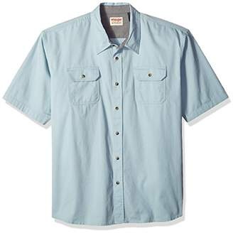 Wrangler Men's Big and Tall Short Sleeve Classic Twill Shirt