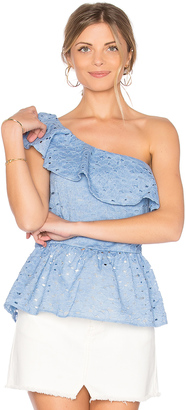 J.O.A. One Shoulder Lace Top $70 thestylecure.com