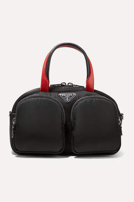 Prada Leather-trimmed Nylon Tote - Black