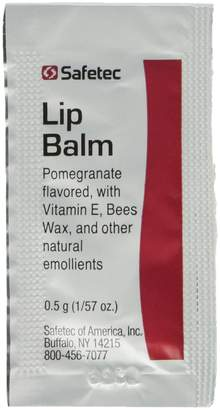 SAFETEC Lip Balm Pomegranate Flavored - 144 Packets/box