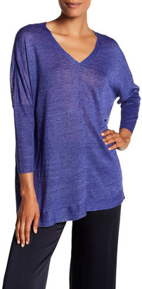 Eileen Fisher V-Neck Knit Linen Pullover $198 thestylecure.com