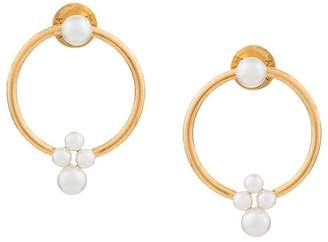 Oscar de la Renta small pearl hoop earrings