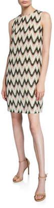 M Missoni Zig Zag Printed Sleeveless Silk Dress