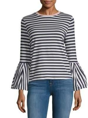 ENGLISH FACTORY Nautical Stripe Long Sleeve Top