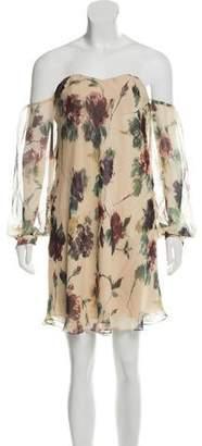 Haute Hippie Silk Off-The-Shoulder Dress w/ Tags
