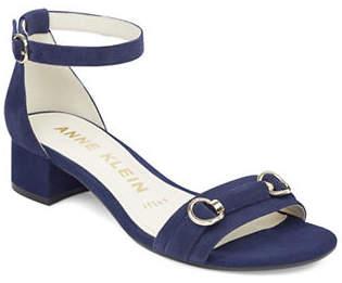 Anne Klein Esme Buckle-Embellished Suede Sandals