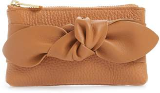 Ted Baker Mellany Knotted Double Pouch Leather Coin Purse