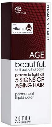 Agebeautiful Shades of Intrigue 4B Dark Blue Permanent Liquid Hair Color