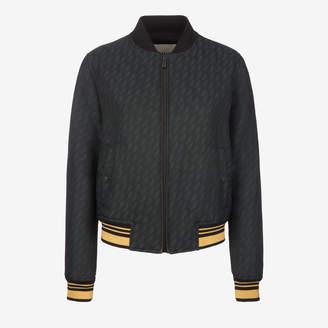 Bally Jacquard Bird Bomber Jacket Black, Women's wool bomber jacket in multi-black
