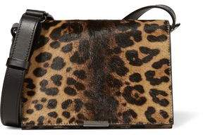 Victoria Beckham Leopard-Print Calf Hair And Leather Shoulder Bag