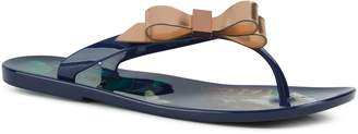 Next Womens Ted Baker Navy Suzzip Bow Jelly Flip Flops