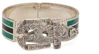 Gucci Garden Enamel And Sterling Silver Bracelet - Mens - Silver