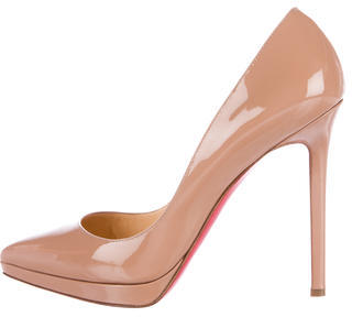 Christian Louboutin  Christian Louboutin Patent Leather Pigalle Plato 120 Pumps