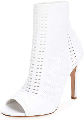 Gianvito Rossi Vires Knit Open-Toe Booties