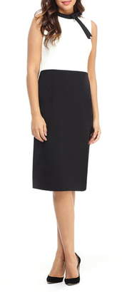 Maggy London Colorblock Bow Detail Sheath Dress