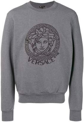 Versace front logo sweatshirt