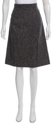 Saint Laurent Knee-Length Wool Skirt