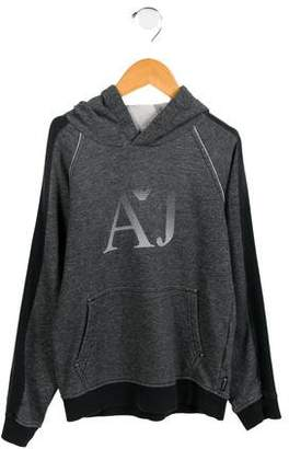 Armani Junior Boys' Hooded Logo Sweatshirt