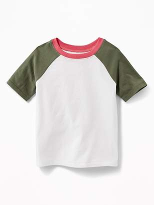Old Navy Raglan-Sleeve Color-Block Tee for Toddler Boys