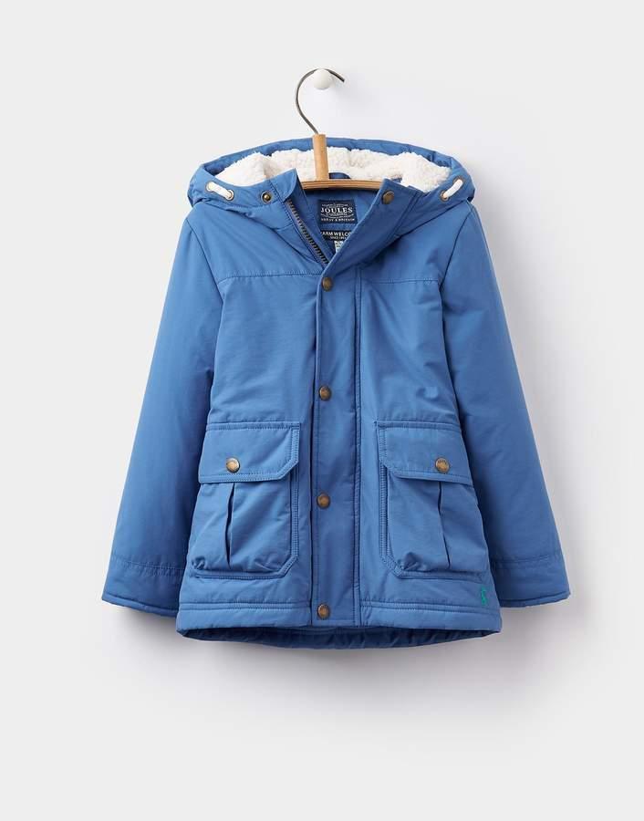 Joules Clothing Ocean Blue Parker Parka Jacket 1yr