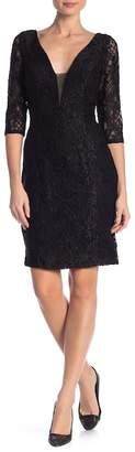 Marina Plunge Neckline Sheath Dress