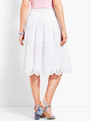 Talbots Eyelet Pleated Skirt