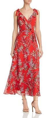Nanette Lepore nanette Floral-Print Midi Wrap Dress