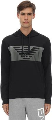 Emporio Armani Ea7 Train Graphic Cotton Sweatshirt Hoodie
