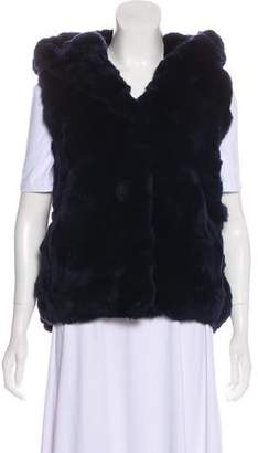 Yves Salomon Fur Hooded Vest