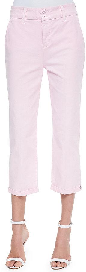 NYDJ Izzie Twill Capri Pants W/Bling Cuffs