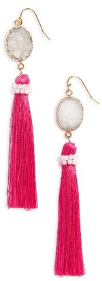 Women's Panacea Drusy Tassel Drop Earrings $32 thestylecure.com