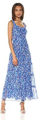 Nine West Women's Multi Tier Chiffon Maxi Dress