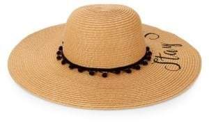 MARCUS ADLER Stay Salty Embroidered Sun Hat