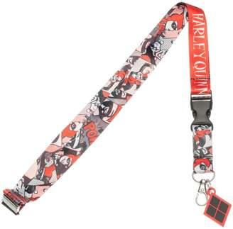 Bioworld DC Comics Harley Quinn Comic Logo Lanyard ID Holder with Rubber Charm
