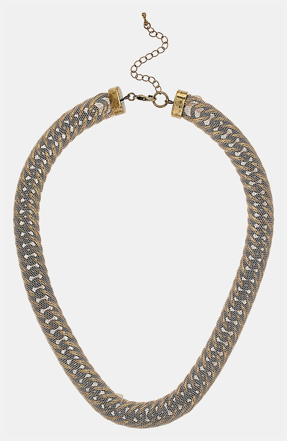 Topshop Mesh Chain Necklace