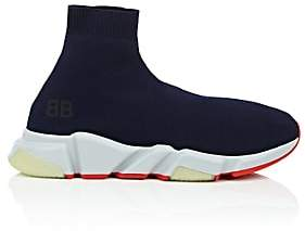 Balenciaga Men's Speed Knit Sneakers - Blue
